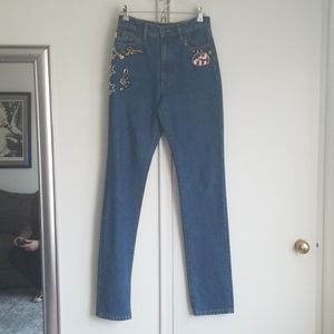Marc Jacobs Embroidered Jeans
